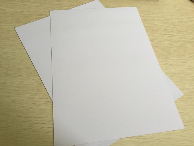 Anti Curl Thin Mill Board Paper , A4 Cardboard Sheets One Side Coated