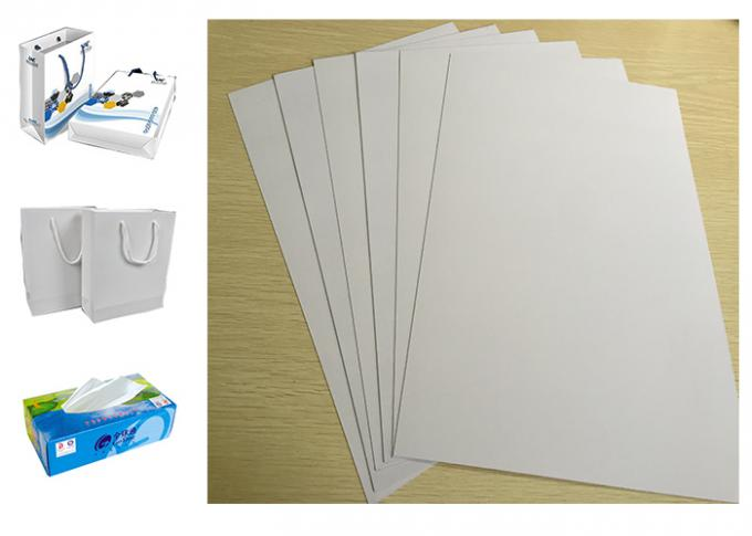 Ream Packing 0.43 Mm White Back Duplex Board Paper Gor Courier Bags