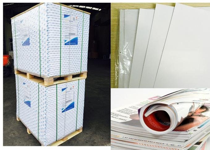 128 Gsm Snow White C2S Art Paper Brochure Printing Paper High Brightness