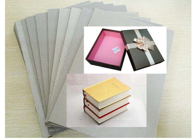 High Stiffiness Grey Chip board Paper For Notebook Packaging 1250gsm / 2.00mm