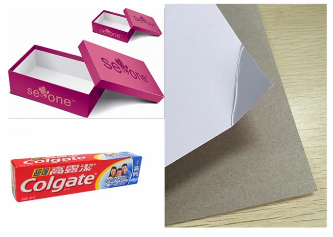 Single Side Coated Duplex Paper Board With Grey Back For Roll Package 250g