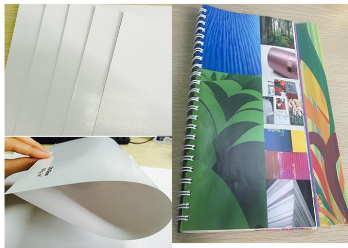 Durable 105 Gsm Glossy Laser Paper , Glossy Brochure Paper Moisture Proof