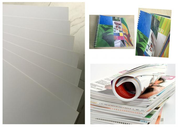 Good Smoothness White Glossy Art Paper Couch Paper Roll For Printing Magazines