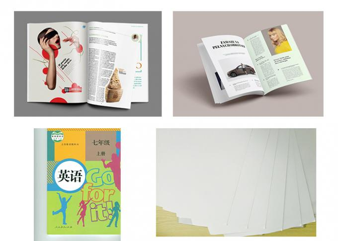 Custom Offset Printing Paper For Magazine And Textbooks 100% Wood Pulp Material