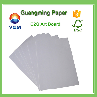China Bulk C2S Coated Large Cardboard Sheets , Plain Cardboard Sheets For Art Projects supplier