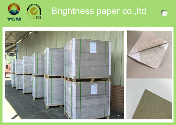China Offset Printing 0.42mm Thick Paper Board Duplex Board Grey Back Single Side Coat supplier
