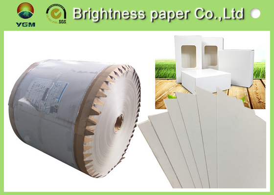 China Coated Paperboard White Back Duplex Board Sheet / Roll 250gsm ~ 450gsm supplier