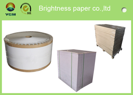 China High Stiffness Folding Box Board Sheets Clay Coated News Back Paper Double Side supplier