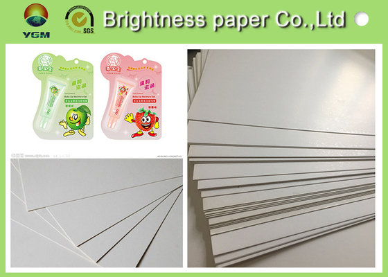 China Grey Back Blister Board Paper Blister Cardboard For Toothbrush Packaging supplier