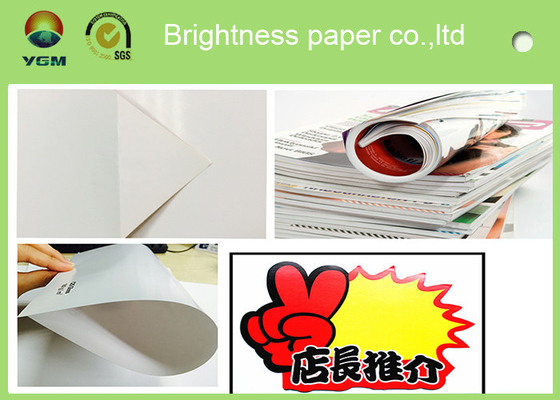 China Durable 105 Gsm Glossy Laser Paper , Glossy Brochure Paper Moisture Proof supplier