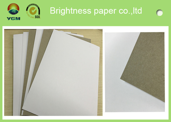 China High Bulking Large Flat Cardboard Sheets , White Black Paper Board For Electronics distributor