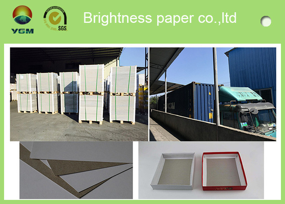 China Single Side Coated Duplex Paper Board With Grey Back For Roll Package 250g distributor