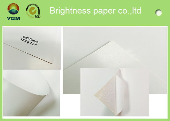 China Grade AA Coated Two Sides C2S Art Paper Used For Catalogue Printing distributor