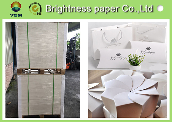 Glossy Coated Solid White Board , Carton Board Sheets For Making Postcard