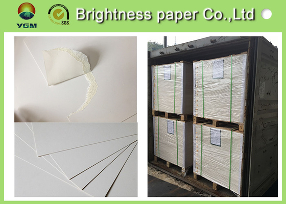 Large White Card Sheets 350gsm , Recycled Coated Cardboard Sheets Anti - Curl