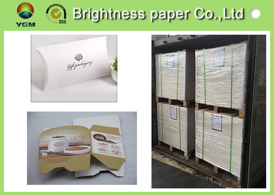 Mixed Pulp Material White Cardboard Sheets For Cosmetics Packing 700 * 1000mm