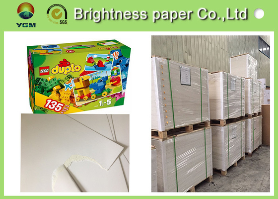 One Side Coated White Cardboard Sheets For Packaging Boxes Eco Friendly