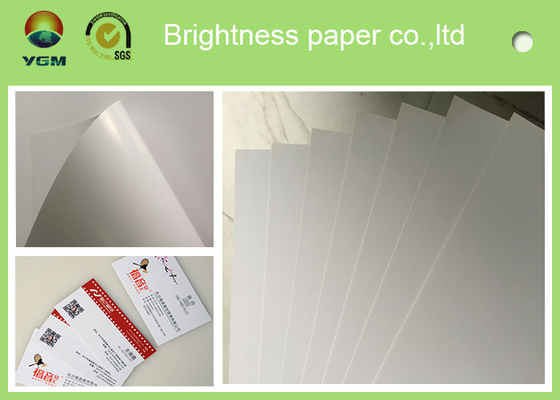 Grade AA C2s Glossy Poster Paper , Glossy Brochure Paper For Inkjet Printers