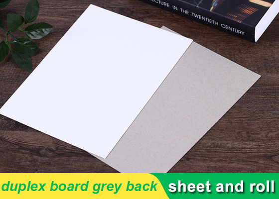 250g white duplex board Grey Back Duplex Board Paper For Printing Box
