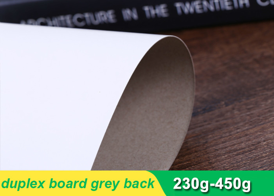 One side coated duplex paper board grey back with high stiffness 230g-450g